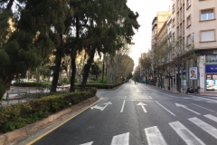 Empty streets because of the Coronavirus
