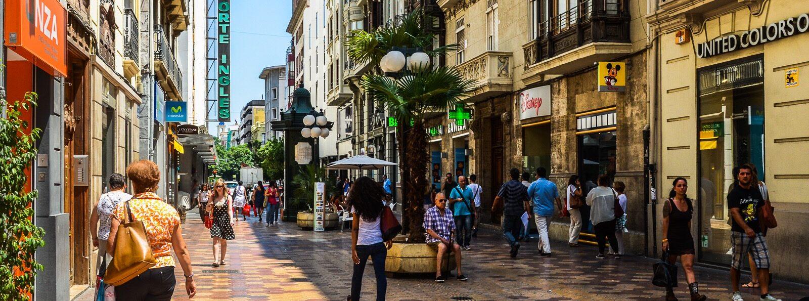 Winkelen in Valencia: Calle Don Juan De Austria Valencia